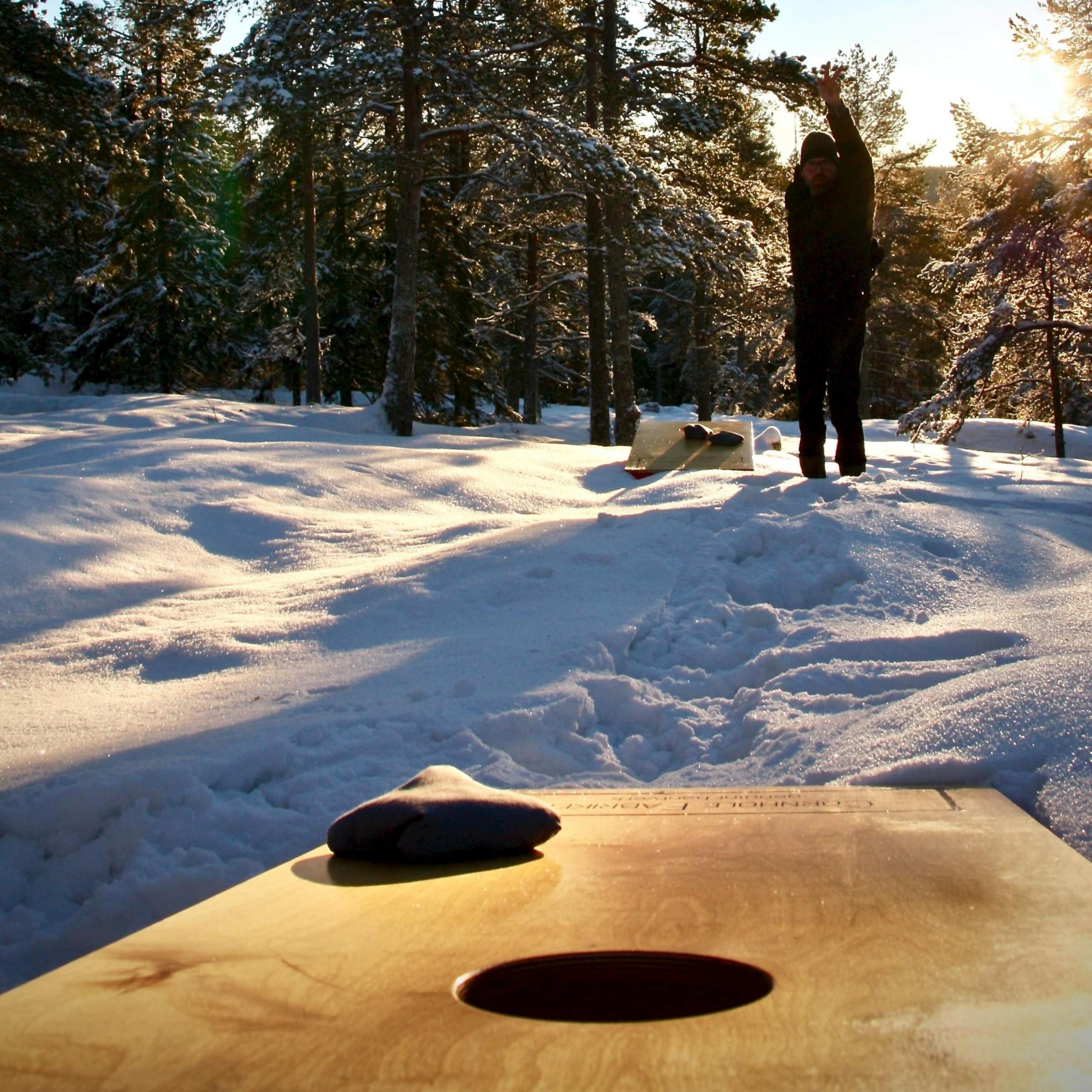 Cornhole kan spelas även i vintertid